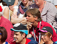 France, Paris , May 24, 2015, Tennis, Roland Garros, Dutch Director sportief of the KNLTB is watching Igor Sijsling (NED)<br /> Photo: Tennisimages/Henk Koster