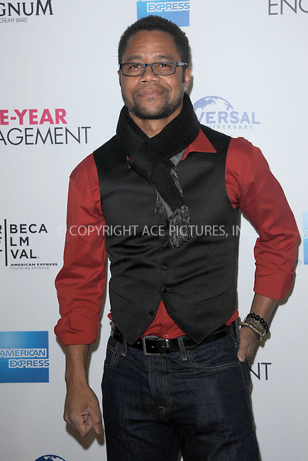 """WWW.ACEPIXS.COM . . . . . .April 18, 2012...New York City....Cuba Gooding Jr arriving to the Universal Pictures premiere of """"The Five Year Engagement"""" for the opening of the Tribeca Film Festival at the Ziegfeld Theatre on April 18, 2012  in New York City ....Please byline: KRISTIN CALLAHAN - ACEPIXS.COM.. . . . . . ..Ace Pictures, Inc: ..tel: (212) 243 8787 or (646) 769 0430..e-mail: info@acepixs.com..web: http://www.acepixs.com ."""