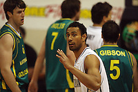 Tall Blacks forward Mika Vukona during the International basketball match between the NZ Tall Blacks and Australian Boomers at TSB Bank Arena, Wellington, New Zealand on 25 August 2009. Photo: Dave Lintott / lintottphoto.co.nz