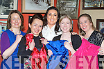 Kathy Chambers, Marie O'Sullivan, Miriam Dennehy, Theresa Barry and Barbara O'Connor checking out the dresses on offer at the clothes swap in Herlihy's bar, Farranfore on Thursday night....