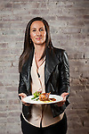 Manager and partner Leslie Affre at Beast & Bottles in Brooklyn Heights with whole branzino, grilled lemon, seasonal greens, radishes.<br /> <br /> Danny Ghitis for The New York Times