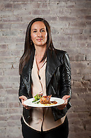 Manager and partner Leslie Affre at Beast &amp; Bottles in Brooklyn Heights with whole branzino, grilled lemon, seasonal greens, radishes.<br /> <br /> Danny Ghitis for The New York Times