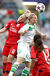 VfL Wolfsburg's Alexandra Popp (r) and Olympique Lyonnais's Amandine Henry during UEFA Women's Champions League 2015/2016 Final match.May 26,2016. (ALTERPHOTOS/Acero)