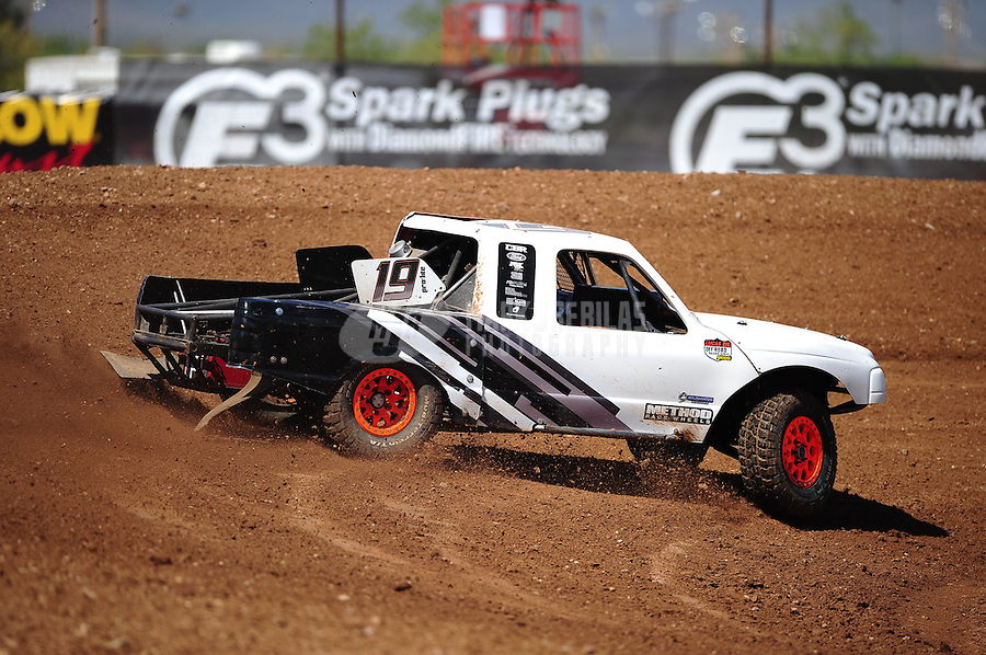 Apr 15, 2011; Surprise, AZ USA; LOORRS driver Corey Sisler (19) during round 3 and 4 at Speedworld Off Road Park. Mandatory Credit: Mark J. Rebilas-.