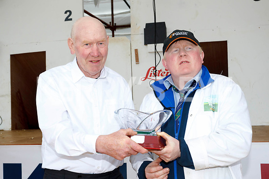 Dan Kelleher from Kilgarvan who was presented with the first ever Master Blade Shearer Award in Ireland.