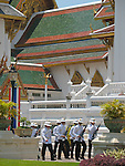 The Grand Palace, guards, Bangkok, Thailand