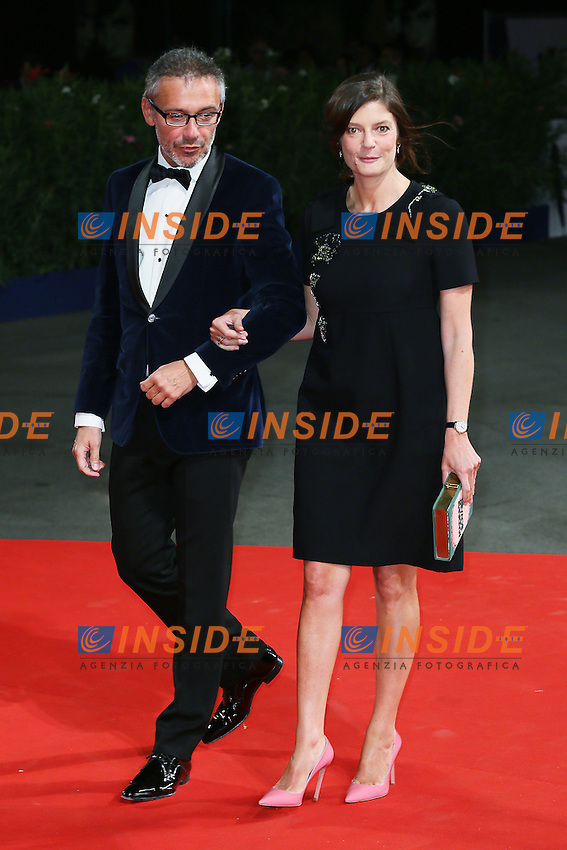 VENICE, ITALY - SEPTEMBER 09: Laurent Vinay and Chiara Mastroianni attend the 'De Palma - Jaeger-LeCoultre Glory to the Filmmaker 2015 Award' Red Carpet during 72nd Venice Film Festival at Palazzo Del Cinema on September 9, 2015 in Venice, Italy. (Mark Cape/insidefoto)