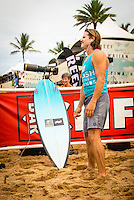North Shore, Oahu, HAWAII - (Friday, Nov. 15, 2013) Brad Gerlach (USA) fourth placegetter in the Clash of the Legends.--  The REEF Hawaiian Pro is the first stop of the $960,000 Vans Triple Crown of Surfing.<br /> The contest has until November 23 to run four full days of competition where 128 of the world's best surfers will compete for critical ASP Prime points and a share of $250,000 prize money. The winner of this event will take home $40,000 and an early lead on the 2013 Vans Triple Crown series ratings. <br /> <br /> A bad day turned good for 6-time Vans Triple Crown champion Sunny Garcia (HAW) today, bowing out of the main event but getting the better of a fun reunion with three other legends of the sport to win the exhibition REEF Clash of the Legends. The $10,000 first prize definitely helped to lift his mood. His former tour traveling partner Kaipo Jaquias (HAW) was second; Michael Ho (HAW) was third; and California's Brad Gerlach (USA) was fourth. This was Garcia's second &quot;Clash&quot; title.Photo: joliphotos.com