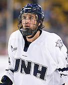Phil DeSimone (UNH - 39) - The Merrimack College Warriors defeated the University of New Hampshire Wildcats 4-1 (EN) in their Hockey East Semi-Final on Friday, March 18, 2011, at TD Garden in Boston, Massachusetts.