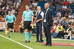 Real Madrid's Zinedine Zidane and Fiorentina's Stefano Pioli during XXXVIII Santiago Bernabeu Trophy at Santiago Bernabeu Stadium in Madrid, Spain August 23, 2017. (ALTERPHOTOS/Borja B.Hojas)