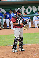 Idaho Falls Chukars catcher Alex Marquez #31 on defense against the Ogden Raptors at Lindquist Field on June 23, 2013 in Ogden, Utah. (Stephen Smith/Four Seam Images)