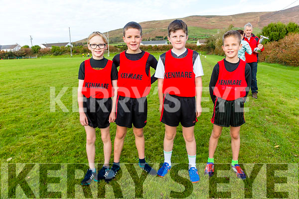 The Kenmare Boys U10 relay team in second place at the County Championship meeting in Cahersiveen on Sunday pictured l-r; Daragh Murphy, Charlie Guest, Michael Tagney & Robbie Guest.
