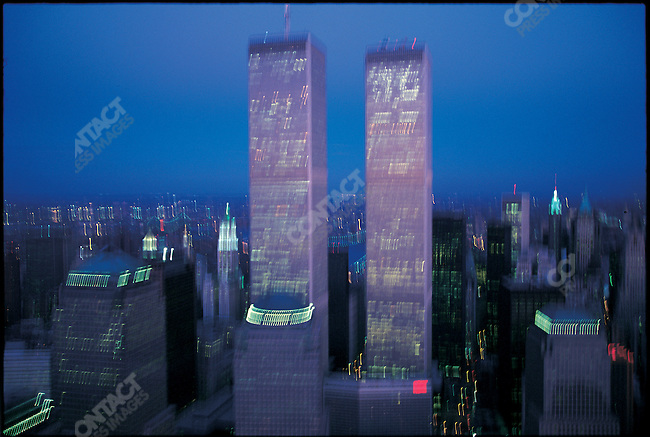 World Trade Center, aerial view, New York City, New York, USA, March 1999