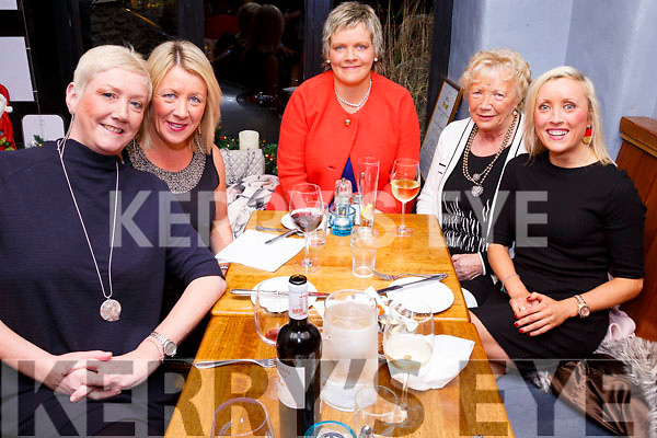 Pictured iin QC's Bar & Restaurant, Cahersiveen on Women's Christmas were Aoife O'Shea, Tara O'Shea, Hazel Sugrue, Kitty King & Grace King.