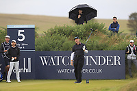 Ernie Els (RSA) on the 5th tee during Round 2 of the Alfred Dunhill Links Championship 2019 at Kingbarns Golf CLub, Fife, Scotland. 27/09/2019.<br /> Picture Thos Caffrey / Golffile.ie<br /> <br /> All photo usage must carry mandatory copyright credit (© Golffile | Thos Caffrey)