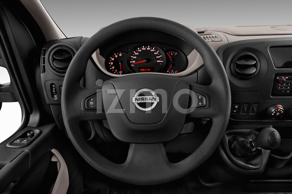 Car pictures of steering wheel view of a 2016 Nissan NV400 Acenta 4 Door Cargo Van Steering Wheel