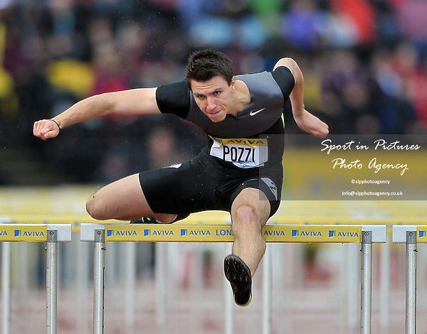 Andrew Poxxi (GBR) 110m Hurdles  - PHOTO: Mandatory by-line: Garry Bowden/SIP/Pinnacle - Photo Agency UK Tel: +44(0)1363 881025 - Mobile:0797 1270 681 - VAT Reg No: 768 6958 48 - 13/07/2012 - Samsung Diamond League, Crystal Palace, London, England