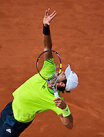 France, Paris, 02.06.2014. Tennis, French Open, Roland Garros,  Fernando Verdasco (ESP)<br /> Photo:Tennisimages/Henk Koster