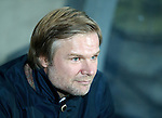 Steven Pressley in the Falkirk dugout