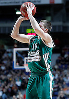 Zalgiris Kaunas' Vytenis Lipkevicius during Euroleague 2012/2013 match.January 11,2013. (ALTERPHOTOS/Acero) /NortePhoto