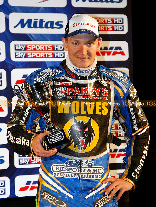2ND RUNNER UP F.LINDGREN - 2011 Elite League Riders Championship at the Abbey Stadium, Swindon - 15/10/11 - MANDATORY CREDIT: Rafal Wlosek/TGSPHOTO - Self billing applies where appropriate - 0845 094 6026 - contact@tgsphoto.co.uk - NO UNPAID USE.