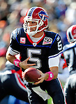 11 October 2009: Buffalo Bills' quarterback Trent Edwards looks to make a handoff against the Cleveland Browns at Ralph Wilson Stadium in Orchard Park, New York. The Browns defeated the Bills 6-3 for Cleveland's first win of the season...Mandatory Photo Credit: Ed Wolfstein Photo