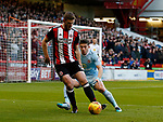 Jack O'Connell of Sheffield Utd and Lynden Gooch of Sunderland during the Championship match at Bramall Lane Stadium, Sheffield. Picture date 26th December 2017. Picture credit should read: Simon Bellis/Sportimage