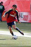 Fabian Espindola (9) of Real Salt Lake. The Chicago Fire and Real Salt Lake played to a 1-1 tie during a Major League Soccer match at Rice-Eccles Stadium in Salt Lake City, Utah on March 29, 2008.