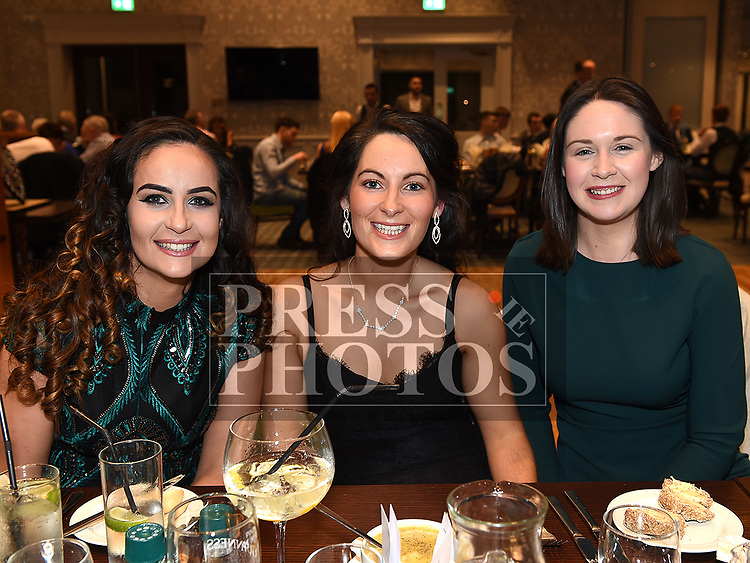 Maire Claire Fahy, Yvonne Brennan and Claire McGuiggan at the Naomh Mairtin reunion in the Monasterboice Inn. Photo:Colin Bell/pressphotos.ie