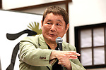 "May 30, 2018, Tokyo, Japan - Japanese comedian and film director Takeshi Kitano speaks before press as he is installed to the honorary advisor of a cultural festival ""Edomachi Taito Geirakusai"" at the Mokubatei theatre in Tokyo's Asakusa district on Wednesday, May 30, 2018.   (Photo by Yoshio Tsunoda/AFLO) LWX -ytd-"