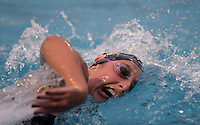 Feb 22, 2015; Whittier, CA, USA; Rose Seabrook of Occidental College competes in the womens 1,650-yard freestyle in the SCIAC swimming championships at Whittier College. Photo by Kirby Lee