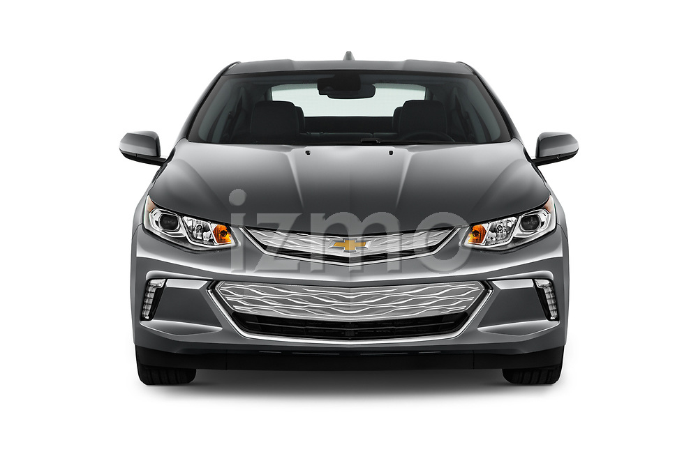 Car photography straight front view of a 2016 Chevrolet Volt LT 5 Door Hatchback Front View