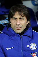 Chelsea manager Antonio Conte during Norwich City vs Chelsea, Emirates FA Cup Football at Carrow Road on 6th January 2018