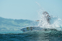 Namotu Island Resort, Nadi, Fiji (Monday, February 29 2016): Brittany Penaroza (HAW). - The swell is on the way back up today with 2'-3' waves hitting Namotu Lefts and Cloudbreak with very light Trade Winds. <br /> The  guests took advantage of the small conditions with a trip to Cloudbreak, snorkelling, SUP paddling around the island and fishing. <br /> A new swell is due Tuesday and the winds are set to stay light all week.<br /> <br /> Photo: joliphotos.com