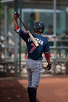 Cleveland Indians shortstop Tyler Freeman (7) on deck during an Extended Spring Training game against the Arizona Diamondbacks at the Cleveland Indians Training Complex on May 27, 2018 in Goodyear, Arizona. (Zachary Lucy/Four Seam Images)