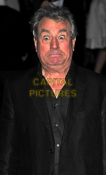 "TERRY JONES.The UK Premiere of ""The Imaginarium Of Doctor Parnassus"" at the Empire Leicester Square, London, England..October 6th 2009.half length black wide eyes funny face .CAP/CJ.©Chris Joseph/Capital Pictures."