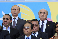 Vladimir Putin the President of Russia and FIFA President Sepp Blatter