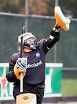 AMSTELVEEN -keeper Wendela van Dedem (Hurley). Hoofdklasse competitie dames, Hurley-HDM (2-0) . COPYRIGHT KOEN SUYK