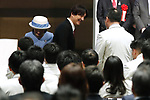 Japan's Prince Akishino and his wife Princess Kiko, <br /> February 26, 2018 : <br /> Japan National Team Organization Ceremony <br />  for PyeongChang 2018 Paralympics Winter Games <br />  in Tokyo, Japan. <br /> (Photo by Sho Tamura/AFLO SPORT)