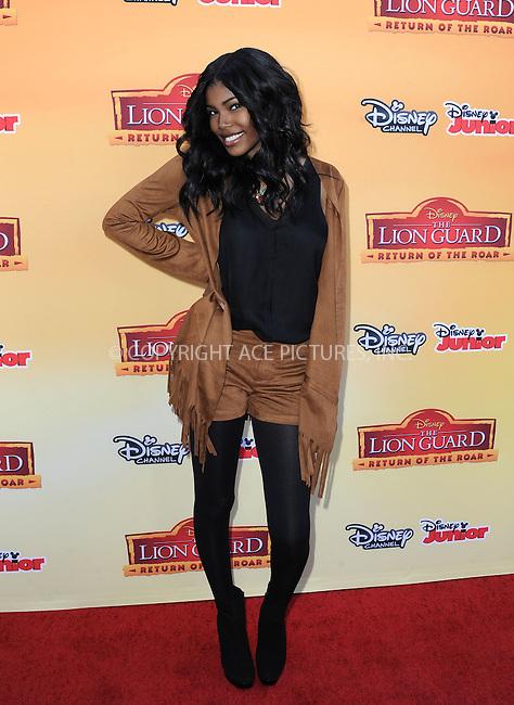 WWW.ACEPIXS.COM<br /> <br /> November 14 2015, LA<br /> <br /> Diamond White arriving at the premiere of Disney Channel's 'The Lion Guard: Return Of The Roar' at Walt Disney Studios on November 14, 2015 in Burbank, California.<br /> <br /> <br /> By Line: Peter West/ACE Pictures<br /> <br /> <br /> ACE Pictures, Inc.<br /> tel: 646 769 0430<br /> Email: info@acepixs.com<br /> www.acepixs.com