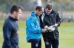 St Johnstone Training….Manager Tommy Wright and Assistant Manager Alec Cleland pictured during training at McDiarmid Park ahead of Sundays game against Celtic.<br />