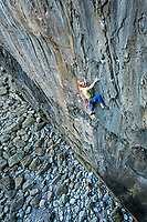 Tom Livingstone on 'Ghost Train'  E6 6b, Stennis Ford, Pembroke