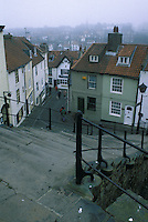 Whitby North Yorkshire on Misty Day