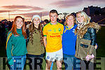Niamh Casey, Casey O'Donoghue, Brian Sugrue, Siobhan Casey and Patricia O'Donoghue, pictured at Legion v South Kerry final in Fitzgerald Stadium, Killarney on Sunday last.