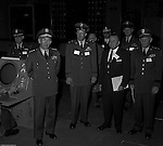 Pittsburgh PA:  US Army General Robert Wood and staff touring the new radar systems installed at the Oakdale NIKE site - 1963. The Oakdale site became the command and control center for all the regional NIKE sites after the installation.  <br /> Brady Stewart Jr. was authorized to photograph the press conference and tour the new command center due to being a US Army staff photographer during WWII.