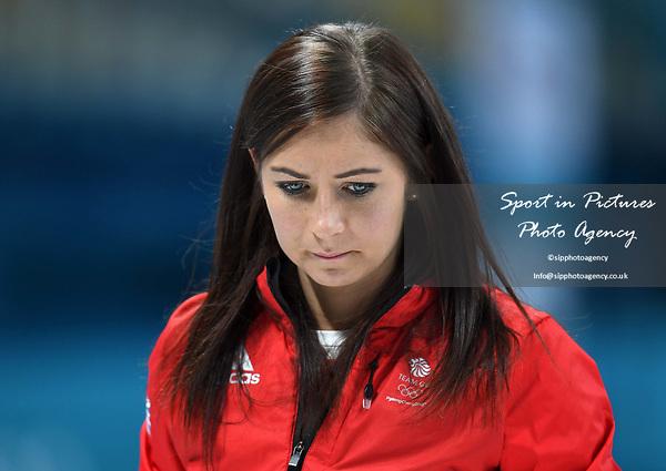 Eve Muirhead (GBR, skip). Womens Curling training. Pyeongchang2018 winter Olympics Gangneung curling centre. Gangneung. Republic of Korea. 12/02/2018. ~ MANDATORY CREDIT Garry Bowden/SIPPA - NO UNAUTHORISED USE - +44 7837 394578