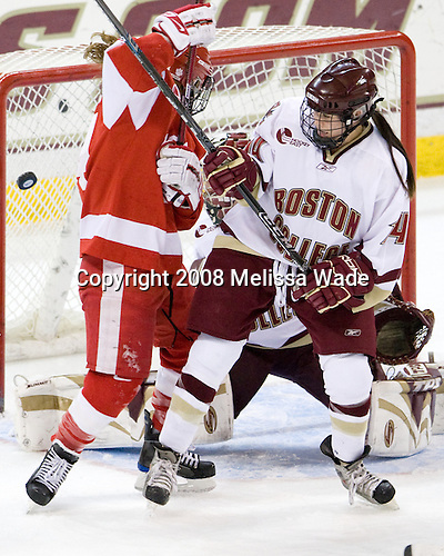 Melissa Anderson (BU - 24), Katelyn Kurth (Boston College - 14) - The Boston University Terriers defeated the Boston College Eagles 4-1 on Saturday, November 22, 2008, at Conte Forum in Chestnut Hill, Massachusetts.