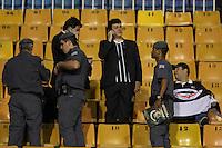 SÃO PAULO,SP,27 FEVEREIRO 2013 - TACA LIBERTADORES AMÉRICA 2013 - CORINTHIANS (Bra) x MILLONARIOS (Col) - Torcedores do Corinthians que conseguiram uma liminar chegam ao Estadio para ver a partida Corinthians x Millonarios válido pela 2º rodada da Taça Libertadore América 2013 no Estádio Paulo Machado de Carvalho (Pacaembu) na noite desta quarta feira (27).FOTO WILLIAM VOLCOV - BRAZIL PHOTO PRESS