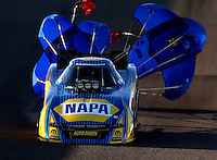 Feb 27, 2016; Chandler, AZ, USA; NHRA funny car driver Ron Capps during qualifying for the Carquest Nationals at Wild Horse Pass Motorsports Park. Mandatory Credit: Mark J. Rebilas-USA TODAY Sports