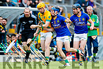 Robert Collins Kilmoyley in action against Shane Conway Lixnaw in the Kerry County Senior Hurling championship Final between Kilmoyley and Lixnaw at Austin Stack Park on Sunday.